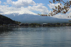 Mt.Fuji at Lake Kawaguchi Royalty Free Stock Photography