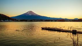 Mt. Fuji in  at Lake Kawaguchiko Stock Photography