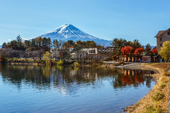 Mt. Fuji in  at Lake Kawaguchiko Royalty Free Stock Photos