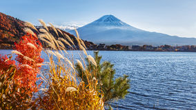 Mt. Fuji in  at Lake Kawaguchiko Stock Photos