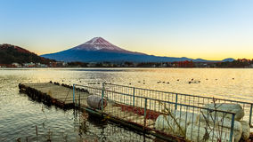 Mt. Fuji in  at Lake Kawaguchiko Royalty Free Stock Images