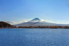 Mt. Fuji at lake Kawaguchiko Royalty Free Stock Photos