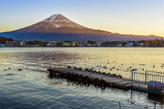 Mt. Fuji at lake Kawaguchiko Stock Photography