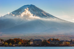Mt. Fuji at lake Kawaguchiko Royalty Free Stock Image