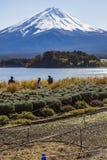 Mt Fuji at lake Kawaguchiko in japan. Royalty Free Stock Photo