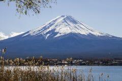 Mt Fuji at lake Kawaguchiko in japan. Stock Images