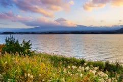 Mt.Fuji with Lake Kawaguchiko,Japan Royalty Free Stock Image