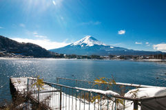 Mt Fuji on the lake kawaguchiko Stock Photography