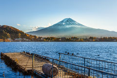 Mt. Fuji at lake Kawaguchiko Royalty Free Stock Images