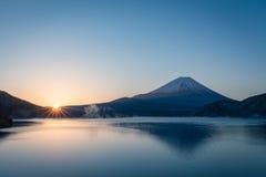 Mt.Fuji at Lake Motosu Stock Photo