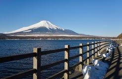 Mt.Fuji at Lake Yamanaka Royalty Free Stock Photos