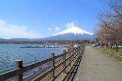 Mt.Fuji at Lake Yamanaka, Japan royalty free stock image