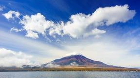 Mt.Fuji with Lake Yamanaka, Japan Stock Images