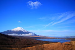 Mt. Fuji and Lake Royalty Free Stock Photography