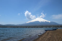 Mt.Fuji at Lake Yamanaka Royalty Free Stock Photo