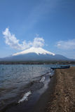 Mt.Fuji at Lake Yamanaka Royalty Free Stock Photos