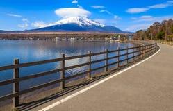 Mt.Fuji with Lake Yamanaka, Yamanashi, Japan Royalty Free Stock Images