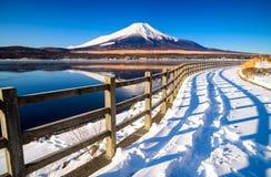 Mt.Fuji with Lake Yamanaka, Yamanashi, Japan Royalty Free Stock Photo