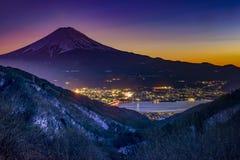 Mt. Fuji, landmark of Japan. View of Mt. Fuji and the cityscape Stock Image
