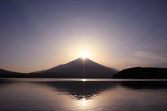 Mt. Fuji met de kroon van de Diamant Stock Afbeeldingen