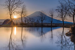 Mt. Fuji in the morning Royalty Free Stock Photography