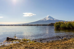 Mt.Fuji  in the morning at Lake Kawakuchi. Japan Stock Photography