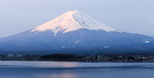 Mt fuji morning time. First light at top of mountain fuji in spring Stock Image