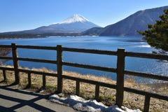 Mt.Fuji at Motosu Lake, Japans. Beautiful View of Mt. Fujiyama at Motosu Lake, view from the view point, Japan Royalty Free Stock Photography