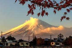 Mt fuji mt solnedgång Arkivfoton