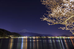 Mt.fuji nel lago Kawaguchi Fotografie Stock Libere da Diritti