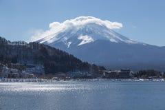 Mt Fuji nell'inverno, Giappone Immagine Stock