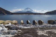 Mt Fuji nell'inverno, Giappone Fotografia Stock Libera da Diritti