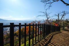 Mt Fuji nella stagione di autunno Fotografie Stock Libere da Diritti