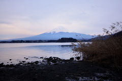 Mt. Fuji, one of the best view from Lake Kawaguchi. Japan stock photography