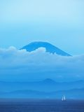 Mt.Fuji from other side of Sagami bay Royalty Free Stock Image