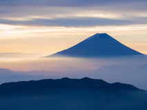 Mt. Fuji over the mist after sunrise Royalty Free Stock Photography