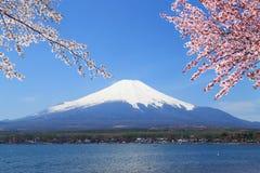 Mt Fuji på sjön Yamanaka, Japan arkivbilder