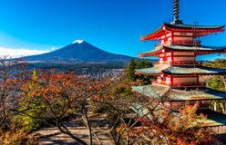 Mt.Fuji and Pagoda Stock Image