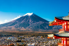 Mt.Fuji and Pagoda Stock Photography