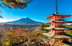 Mt.Fuji and Pagoda Royalty Free Stock Image