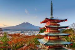 Mt. Fuji and Pagoda Royalty Free Stock Images