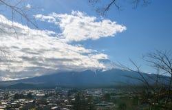 Mt Fuji perto do pagode de Chureito no outono fotos de stock royalty free