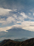 Mt. Fuji Plus Clouds stock image