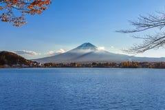 Mt Fuji przy Jeziornym Kawaguchiko Obraz Stock