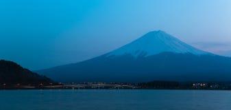 Mt Fuji rises above Lake Kawaguchi. Japan royalty free stock image