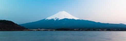 Mt Fuji rises above Lake Kawaguchi. Japan royalty free stock images