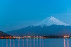 Mt Fuji rises above Lake Kawaguchi. Japan royalty free stock photos