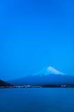 Mt Fuji rises above Lake Kawaguchi. Japan stock photos