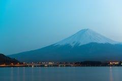 Mt Fuji rises above Lake Kawaguchi. Japan royalty free stock photo
