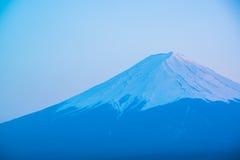 Mt Fuji rises above Lake Kawaguchi. Japan stock photo